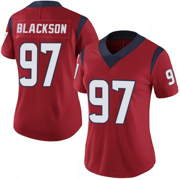 Women's Houston Texans Angelo Blackson Black Limited Red Alternate Vapor Untouchable Jersey By Nike