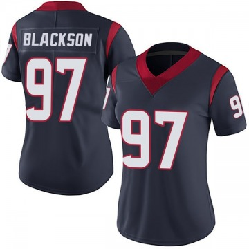 Women's Houston Texans Angelo Blackson Navy Blue Limited Team Color Vapor Untouchable Jersey By Nike