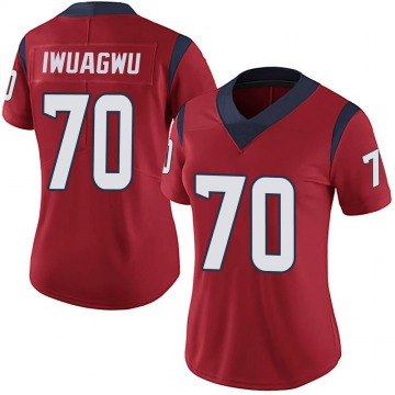 Women's Houston Texans Cordel Iwuagwu Red Limited Alternate Vapor Untouchable Jersey By Nike