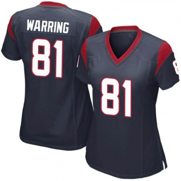 Women's Houston Texans Kahale Warring Navy Blue Game Team Color Jersey By Nike