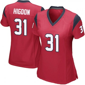 Women's Houston Texans Karan Higdon Red Game Alternate Jersey By Nike