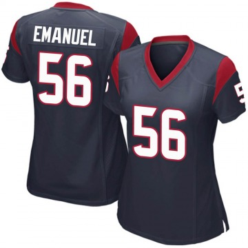 Women's Houston Texans Kyle Emanuel Navy Blue Game Team Color Jersey By Nike