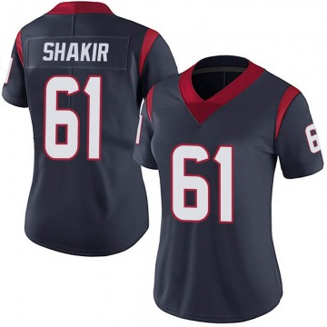 Women's Houston Texans Maurquice Shakir Navy Blue Limited Team Color Vapor Untouchable Jersey By Nike