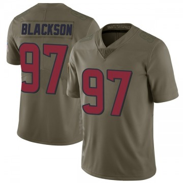 Youth Houston Texans Angelo Blackson Green Limited 2017 Salute to Service Jersey By Nike