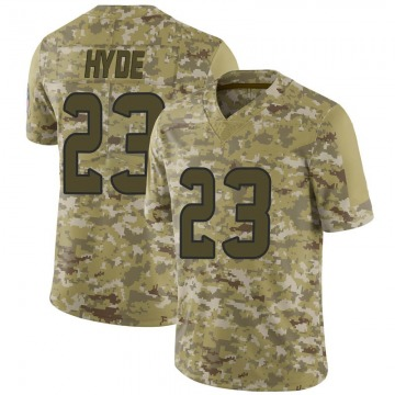 Youth Houston Texans Carlos Hyde Camo Limited 2018 Salute to Service Jersey By Nike