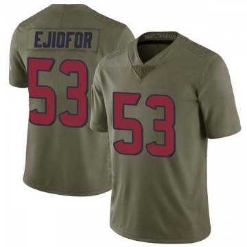 Youth Houston Texans Duke Ejiofor Green Limited 2017 Salute to Service Jersey By Nike
