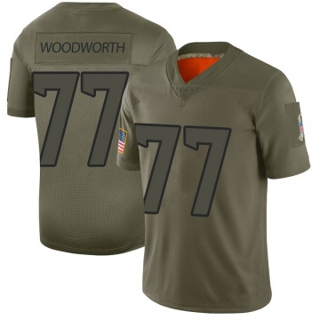 Youth Houston Texans Elex Woodworth Camo Limited 2019 Salute to Service Jersey By Nike