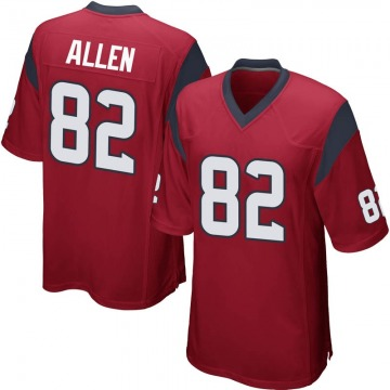 Youth Houston Texans Floyd Allen Red Game Alternate Jersey By Nike