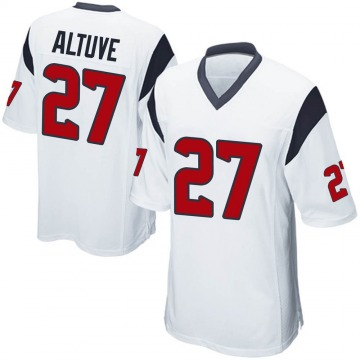 Youth Houston Texans Jose Altuve White Game Jersey By Nike